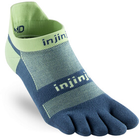 Injinji Run Xtralife Lightweight No Show Socks Men Seafoam